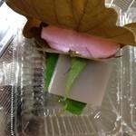 27462288 - 柏餅(味噌)、水羊羹