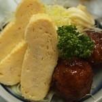 はやし食堂 - 肉団子&出汁巻き玉子 270円