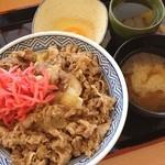 吉野家 - 牛丼大盛+生玉子+味噌汁