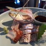 なごみ亭 - 料理写真:朝獲れのアジの瞳のきらきらした透明度!