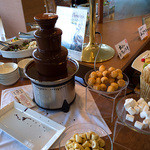 姫蛍 - デザートも充実。チョコレートファウンテンもありました。