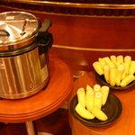 カフェ ジャンシアーヌ - スープ、とバナナ ゆで卵は品切れ中