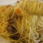 ピノサリーチェ - スパゲッティは、当然アルデンテ