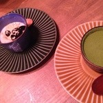 27487830 - 黒ゴマのブラマンジェ、抹茶のティラミス