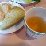 27489673 - セット(パン・カップスープ+コーヒー)