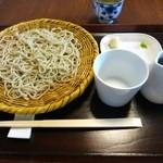 浅田 - ざるそば・一枚(900円)・全景