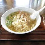 ささや食堂 - えび天ぷら塩ラーメン(750円)