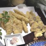 27505048 - 季節の海鮮、野菜3種盛り