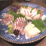 27505050 - 本日の厳選鮮魚4種盛