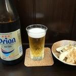 ちゅらかーぎ - オリオンビール(中瓶)¥650(税込)アサヒではない・島らっきょう ¥450(税込)