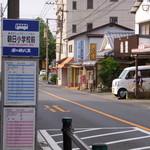 魚豊寿し - つるりん通り、かんぽの宿別府入口前・朝日小学校前バス停が至近