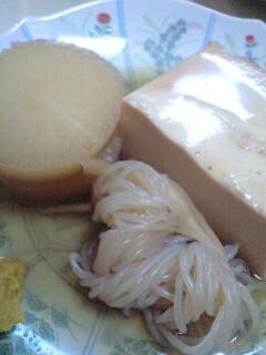 おでん はやし - 大根、糸こんにゃく、豆腐