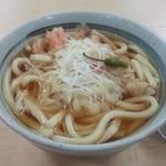 山本商店 - 料理写真:うどん定食(島唐辛子入りうどんとオニギリ)