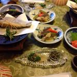 高原旅館野辺山荘 - 料理写真:晩ごはん