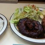 紅浜 - ハンバーグステーキ蟹コロッケ添へ 2014.5