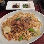 とっこ処 - ホルモン焼そば(ホルモン焼そば定食)