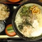 そじ坊 - 冷し山菜とろろ定食854円