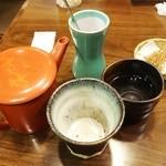 そじ坊 - そば焼酎(そば湯割り)340円