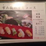 27514888 - メニュー  寿司コース