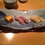 27514890 - 料理 寿司(卵  トロ炙り  イカ)