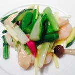 27524733 - 海老と季節野菜の塩炒め