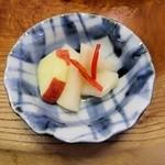 天まめ - リンゴと大根のピクルス