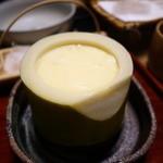 甚内旅館 - 孟宗の器の茶碗蒸し