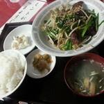 27529931 - レバニラ炒め定食(950円)です。