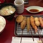 串かつ 赤とんぼ - 串カツランチ 630円