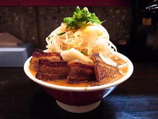 ゴリ家 - 肉増しゴリラーメン(麺、野菜大盛り)