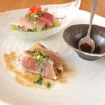 糸満漁民食堂 - タマンバター焼き定食に付いて来る前菜
