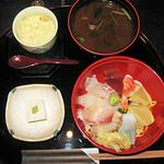 27538214 - 茶碗蒸し・赤だし・ゴマ豆腐 付き