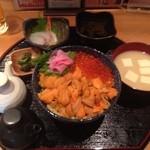 Dining KATSURA - うにいくら丼セット1700円