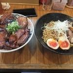 27553991 - 豚丼大・まぜ麺