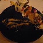 レストラン マノワ - 北海道産白アスパラとホタテ(2014.5)