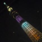 27555615 - この日のスカイツリーは紫の「雅」のライトアップ♪