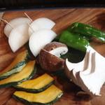 七輪焼肉福禄寿 - 料理写真:野菜焼き