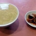 27558552 - スープとザーサイです