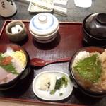 小魚 阿も珍 松永店 -   弁天丼セット(税抜)980円→(税込)1,058円 ※届いた直後