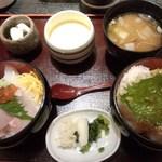 小魚 阿も珍 松永店 -  弁天丼セット(税抜)980円→(税込)1,058円