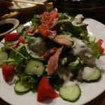 夜の魚屋さん -  ベーコンのシーザーサラダ
