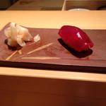 鮨 あい澤 - 漬けマグロ
