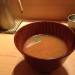 鮨 あい澤 - 魚出汁の味噌汁