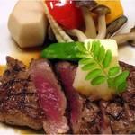 つきじ植むら -  祝膳コースオプション 牛フィレステーキ