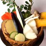 野菜の炙り盛り合わせ