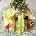 沼津釜揚げしらすとキャベツのチョレギ風サラダ