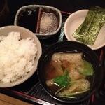 よし春 -   お昼のランチ(1000円)ごはん・お味噌汁
