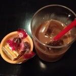 よし春 -   お昼のランチ(1000円)食後のアイスコーヒー