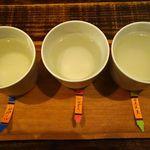 克 - 日本酒のみくらべ3種