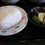 奈良うどん ふく徳 - 定食のおにぎりと漬物